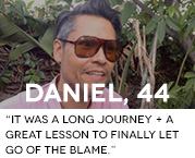 It was a long journey and a great lesson to finally let go of the blame.