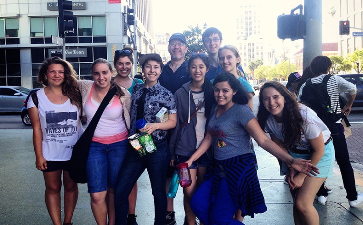 The first group tour for Urban Plunge 2015, on Western and Wilshire